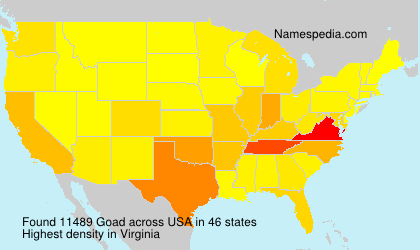 Surname Goad in USA