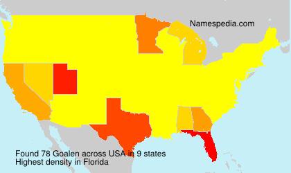 Surname Goalen in USA