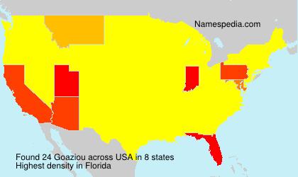 Surname Goaziou in USA