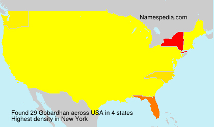 Surname Gobardhan in USA