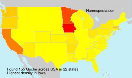 Surname Goche in USA