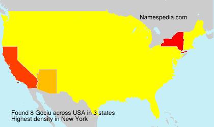 Surname Gociu in USA