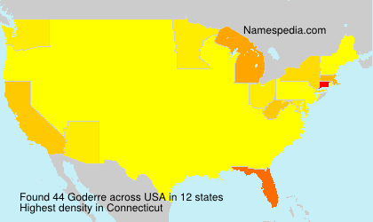 Surname Goderre in USA