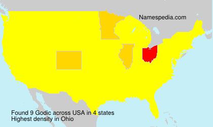 Familiennamen Godic - USA