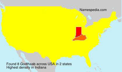 Surname Godthaab in USA
