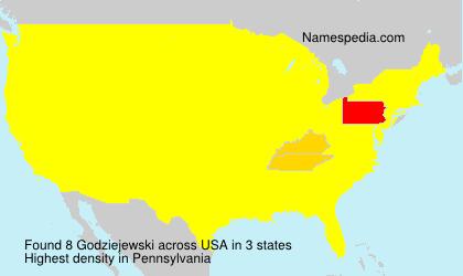 Surname Godziejewski in USA