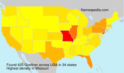 Surname Goellner in USA