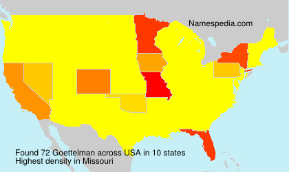 Surname Goettelman in USA