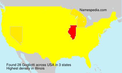 Surname Gogliotti in USA