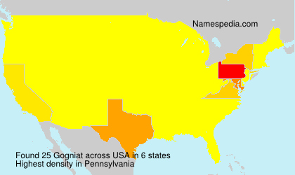 Surname Gogniat in USA