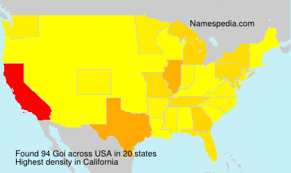 Surname Goi in USA