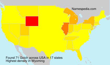 Familiennamen Goich - USA