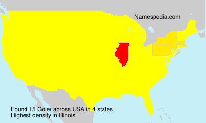 Surname Goier in USA