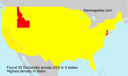 Surname Goitiandia in USA