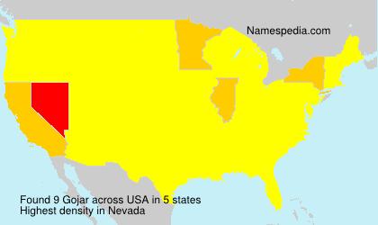 Surname Gojar in USA