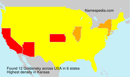 Surname Goldansky in USA