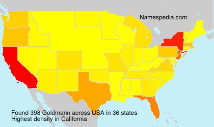 Familiennamen Goldmann - USA