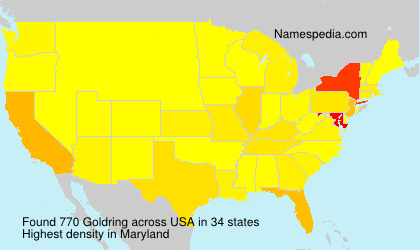 Surname Goldring in USA