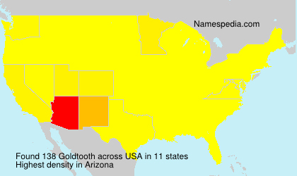 Surname Goldtooth in USA
