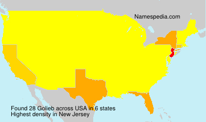 Surname Golieb in USA