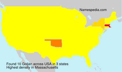 Surname Goljan in USA