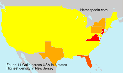 Surname Gollo in USA
