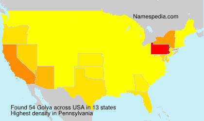 Surname Golya in USA
