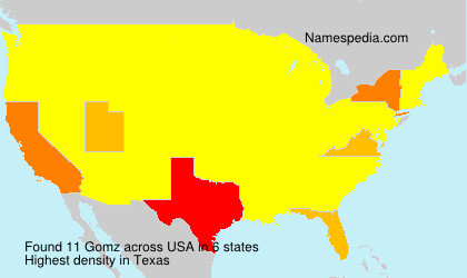 Surname Gomz in USA