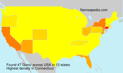 Surname Gonci in USA