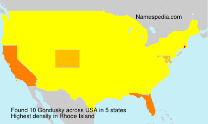 Surname Gondusky in USA
