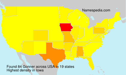 Surname Gonner in USA