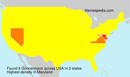 Surname Gonnermann in USA