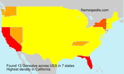 Surname Gonsalve in USA