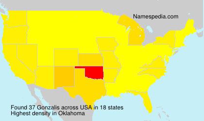 Familiennamen Gonzalis - USA