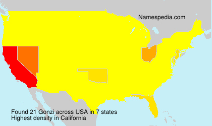 Surname Gonzi in USA