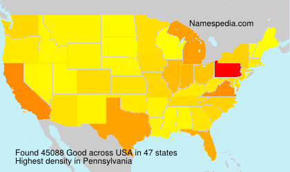 Surname Good in USA