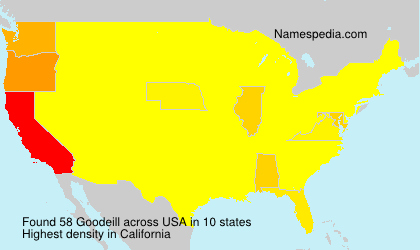Surname Goodeill in USA