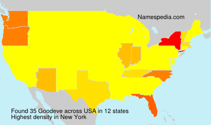 Surname Goodeve in USA