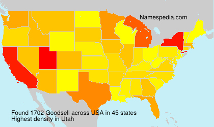 Surname Goodsell in USA