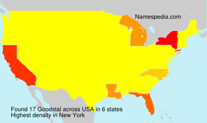 Surname Goodstal in USA
