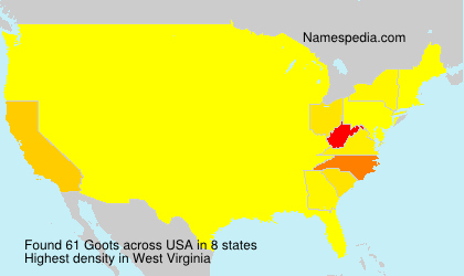 Surname Goots in USA