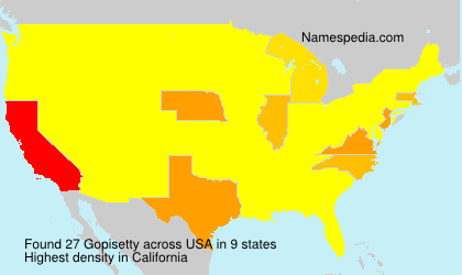Surname Gopisetty in USA