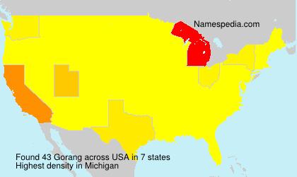 Surname Gorang in USA