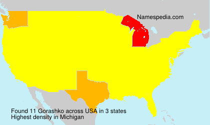 Surname Gorashko in USA