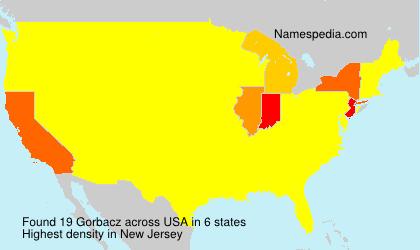Surname Gorbacz in USA