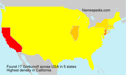 Surname Gorbunoff in USA