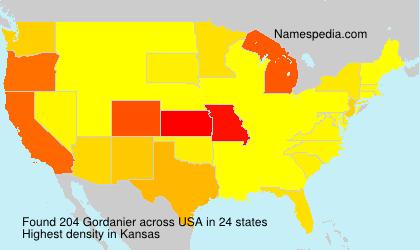 Familiennamen Gordanier - USA