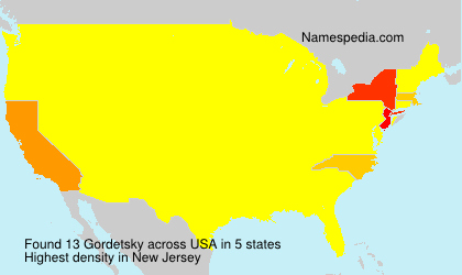 Surname Gordetsky in USA