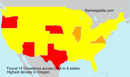 Surname Goredema in USA