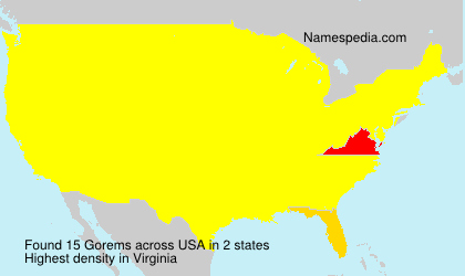 Surname Gorems in USA